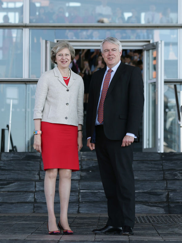 Theresa May and Carwyn Jones