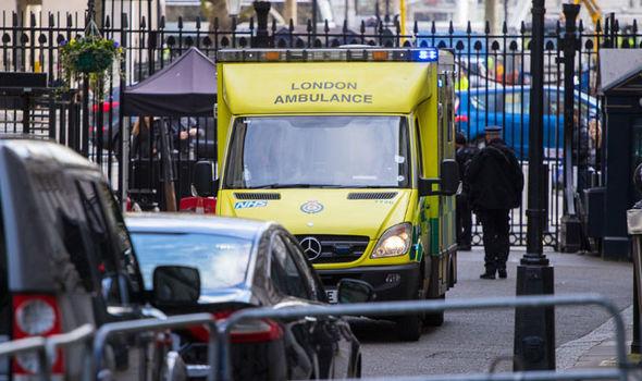 Ambulance on Downing Street