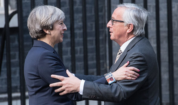 Theresa May and Jean-Claude Juncker