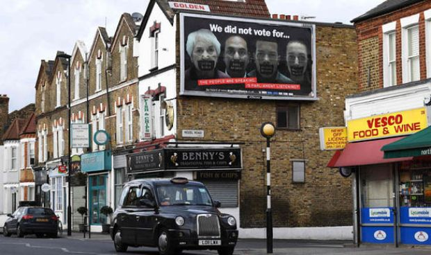 One of the brexit billboards