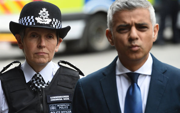Sadiq Khan and Cressida Dick