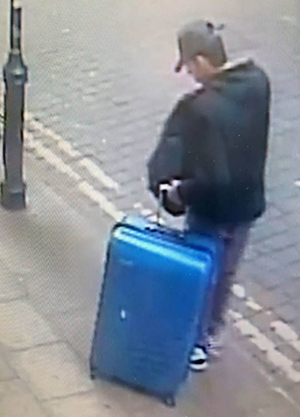 Salman Abedi with a suitcase
