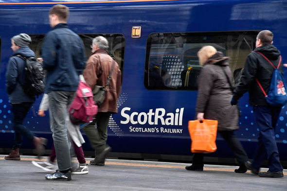 ScotRail train with passengers