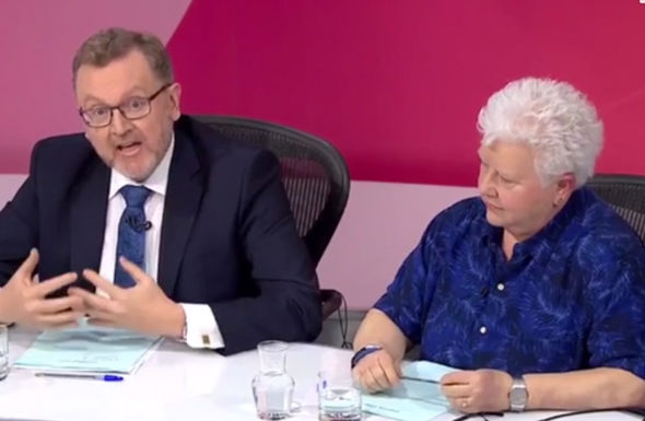 Scottish crime writer, Val McDermid looked disapprovingly as Mundell unleashed a rant