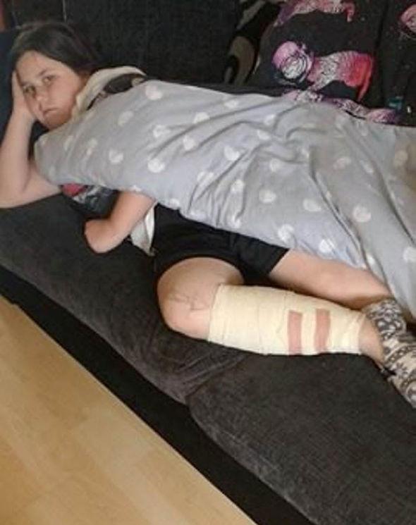 Shakeisha Vowell with injury
