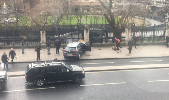 Westminster: Car crashed outside