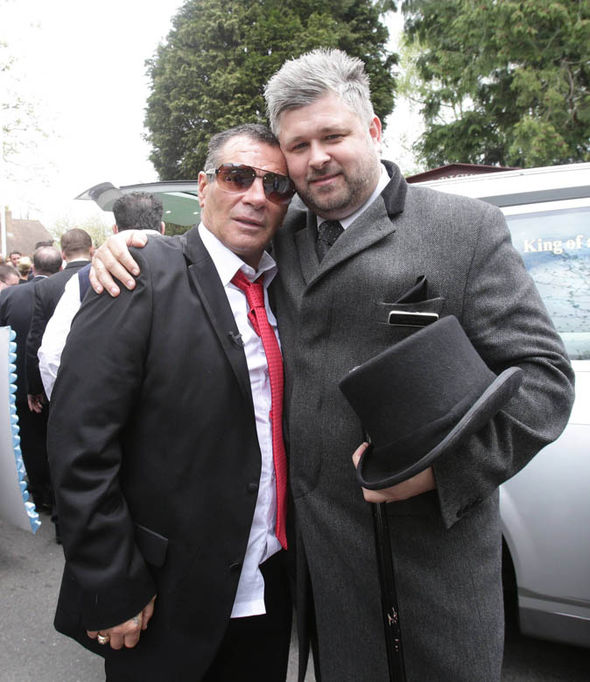 Paddy Doherty with the funeral director