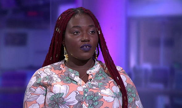 Student campaigner Barbara Ntumy