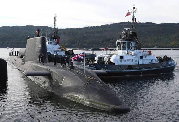 HMS Astute, an Astute class nuclear-submarine