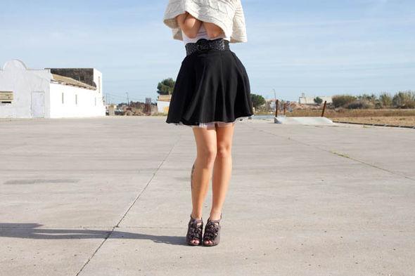 Woman in mini-skirt