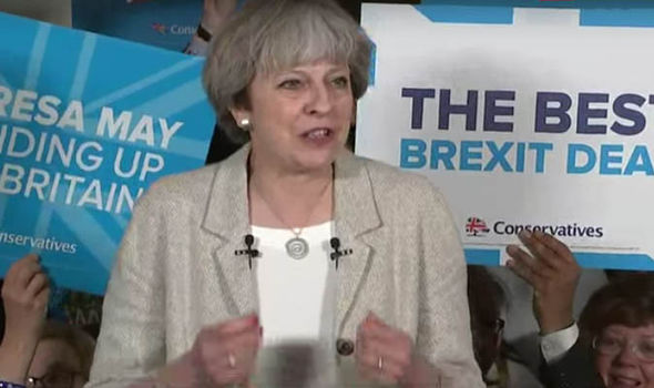 Theresa May in West Yorkshire