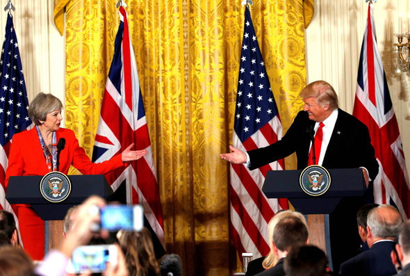 Prime Minister Theresa May and President Trump
