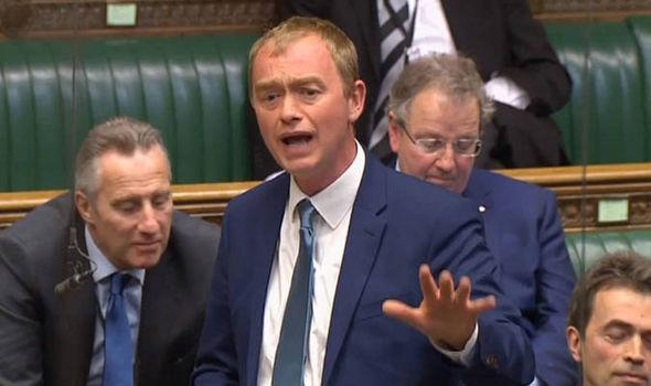Tim Farron speaking in Parliament