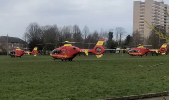Air Ambulances are on the scene after incident in Wolverhampton