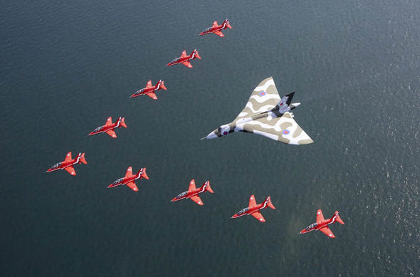 The vulcan with the red arrows