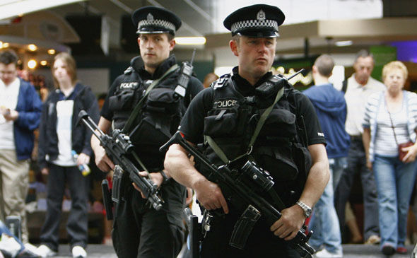 Armed police on duty in London