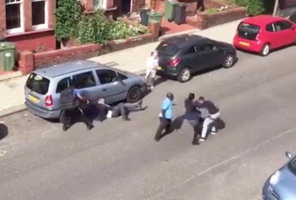 Streatham stabbing video still image