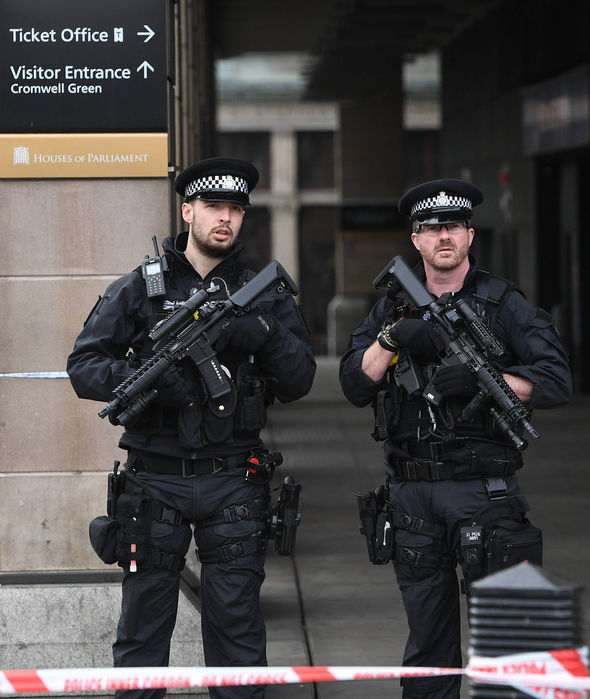 Armed police return to work in London