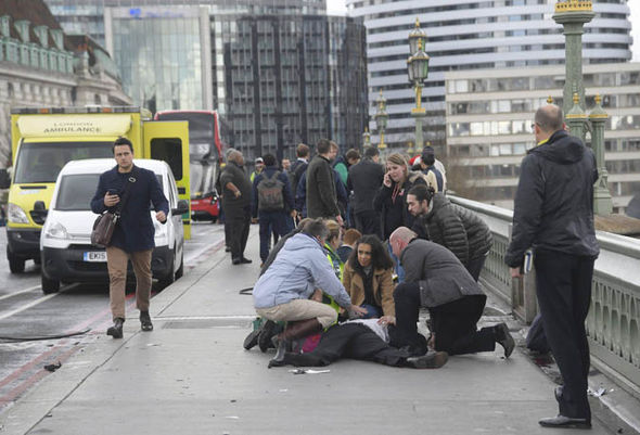 London terror attack: People injured on Westminster Bridge
