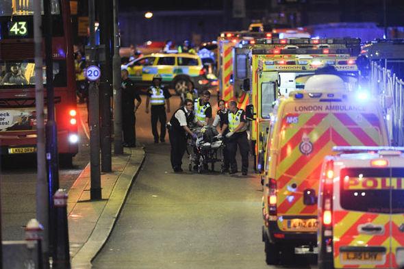 Emergency services on London Bridge