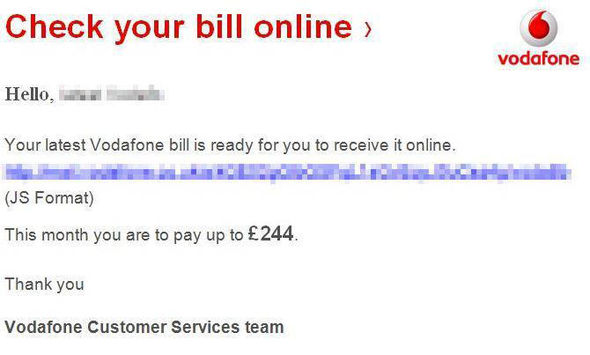 Vodafone customers have also been targeted