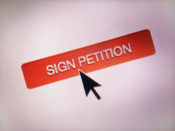 Sign petition sign