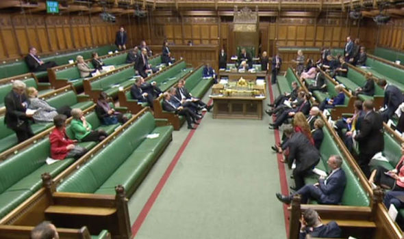 MPs in house of commons ahead of vote