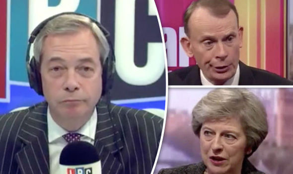 Nigel Farage, Andrew Marr, Theresa May