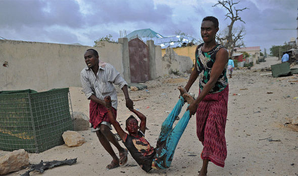 Injured teenager caught in Somalia's civil war