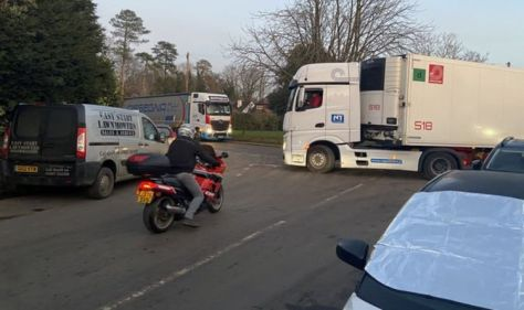 Quiet village rammed with HGVs in Brexit lorry park botch-up