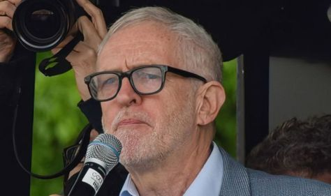 Corbyn speaks at rally where the Israeli flag was set on fire and Hitler placards spotted