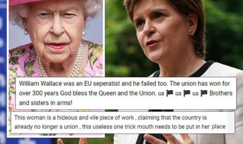 'Too much Braveheart!' Britons brand Scottish nationalists 'pathetic' for attack on Queen