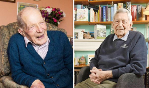 Britain's oldest men: Alf Smith and Robert Weighton ...