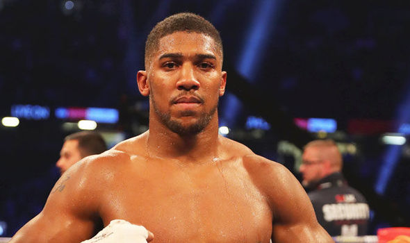 Anthony Joshua after regaining the IBF and WBA titles