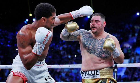 Andy Ruiz was cut in the first round against Anthony Joshua