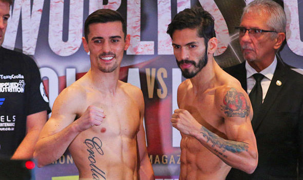 Boxers Anthony Crolla and Jorge Linares
