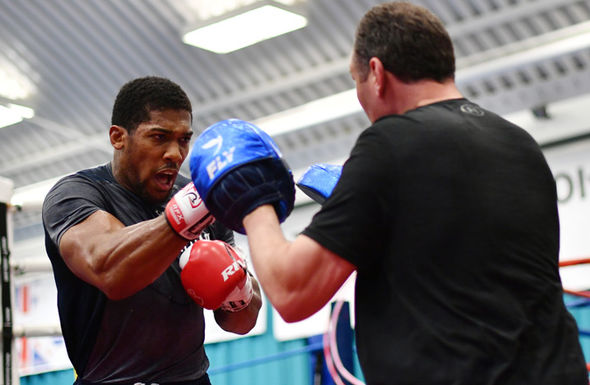 Anthony Joshua and Rob McCracken