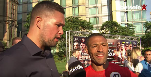 Boxers Kell Brook and Tony Bellew