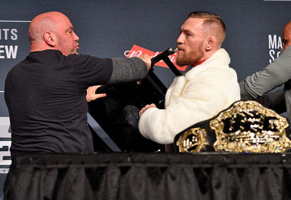 UFC star Conor McGregor and Dana White