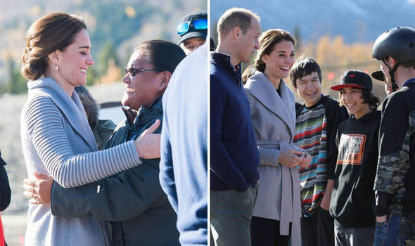 Kate Middleton hugs a fan