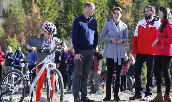 Kate and William on cycling trail