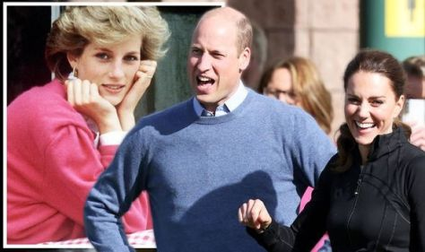 Kate and William with princess diana