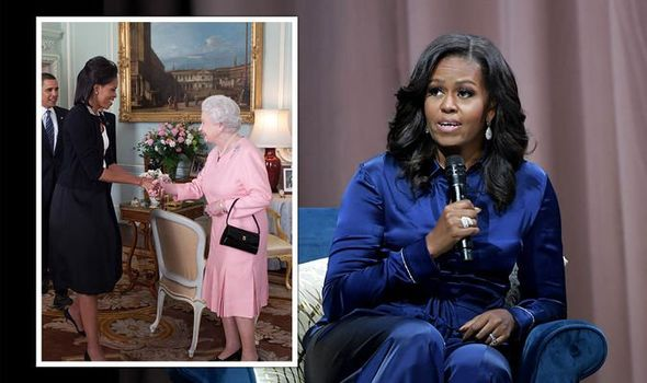 michelle obama meeting queen prince philip royal protocol picture royal family news