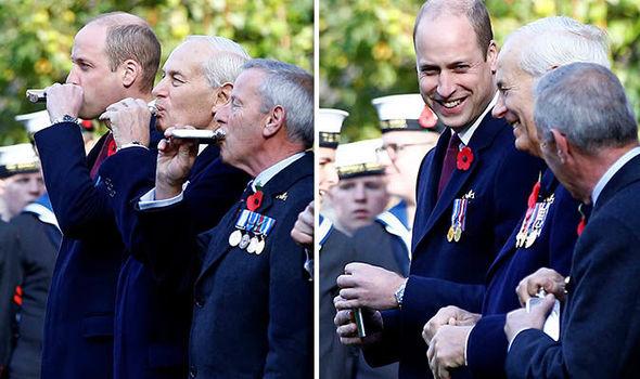 prince william duke cambridge remembrance day service kate middleton
