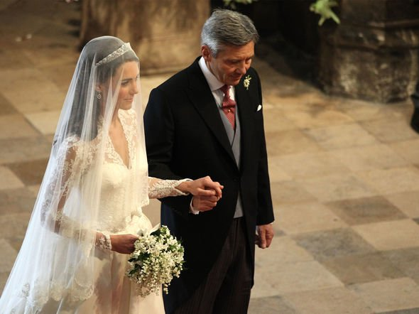 Michael Middleton walks his daughter down the aisle on her wedding day