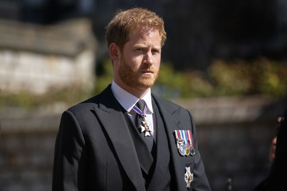 Harry returned to the UK last month for Prince Philip's funeral