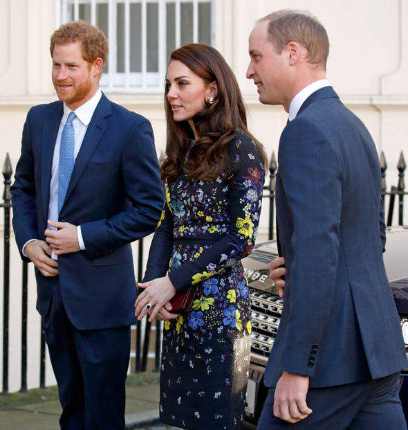William, Kate and Prince Harry