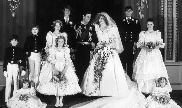 India Dicks alongside others at Prince Charles and Princess Diana's wedding