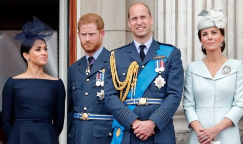 Meghan and Harry with William and Kate