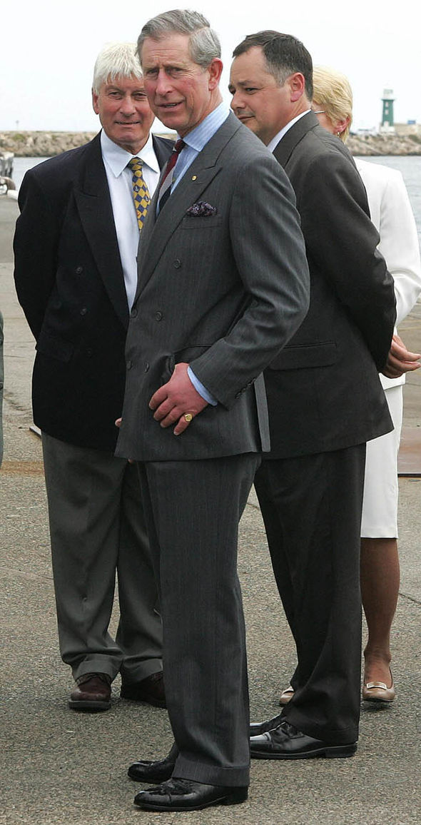 Prince Charles in a suit